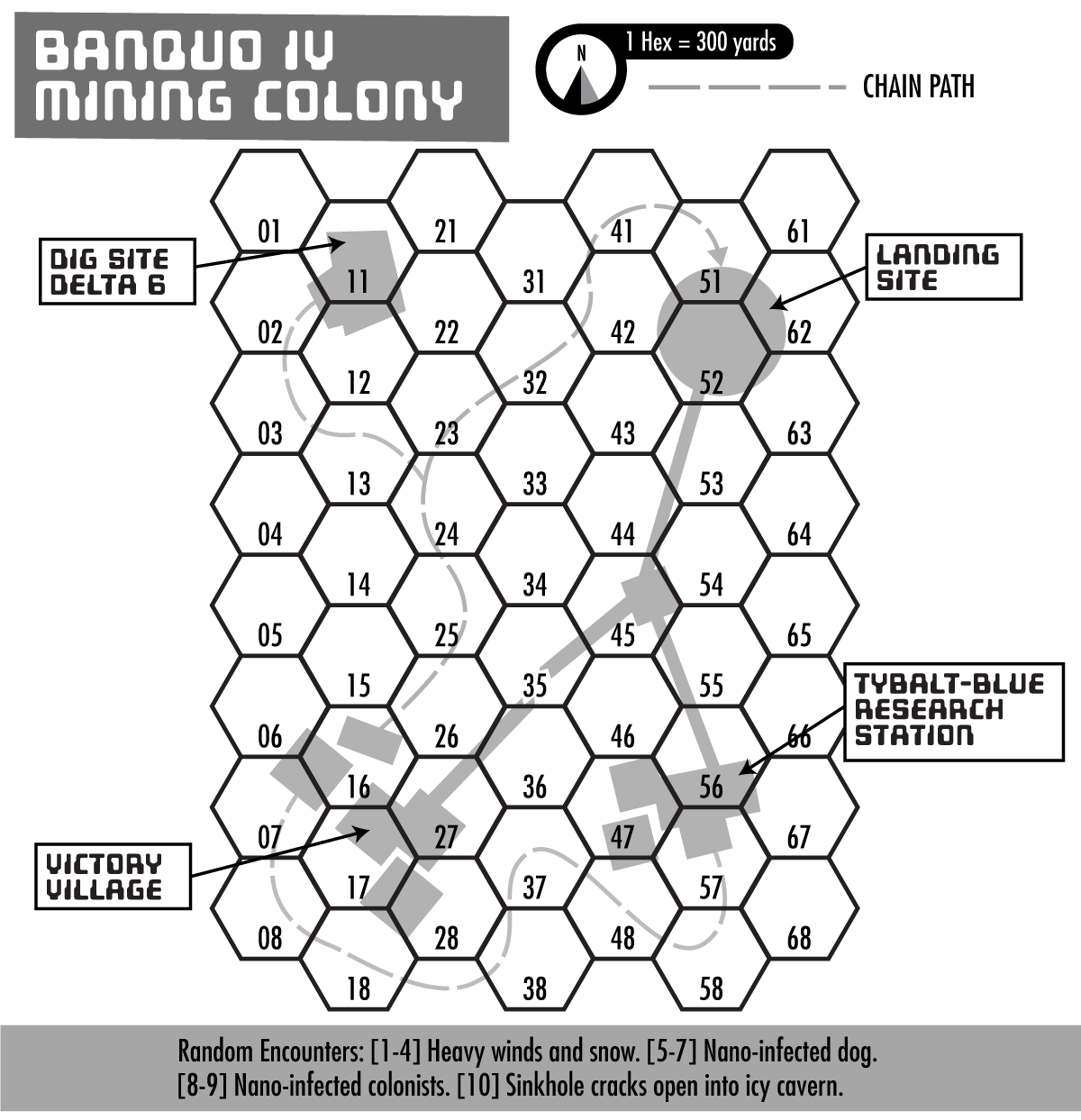 Hex Map of Banquo-IV I scavenged from an old adventure I was working on.