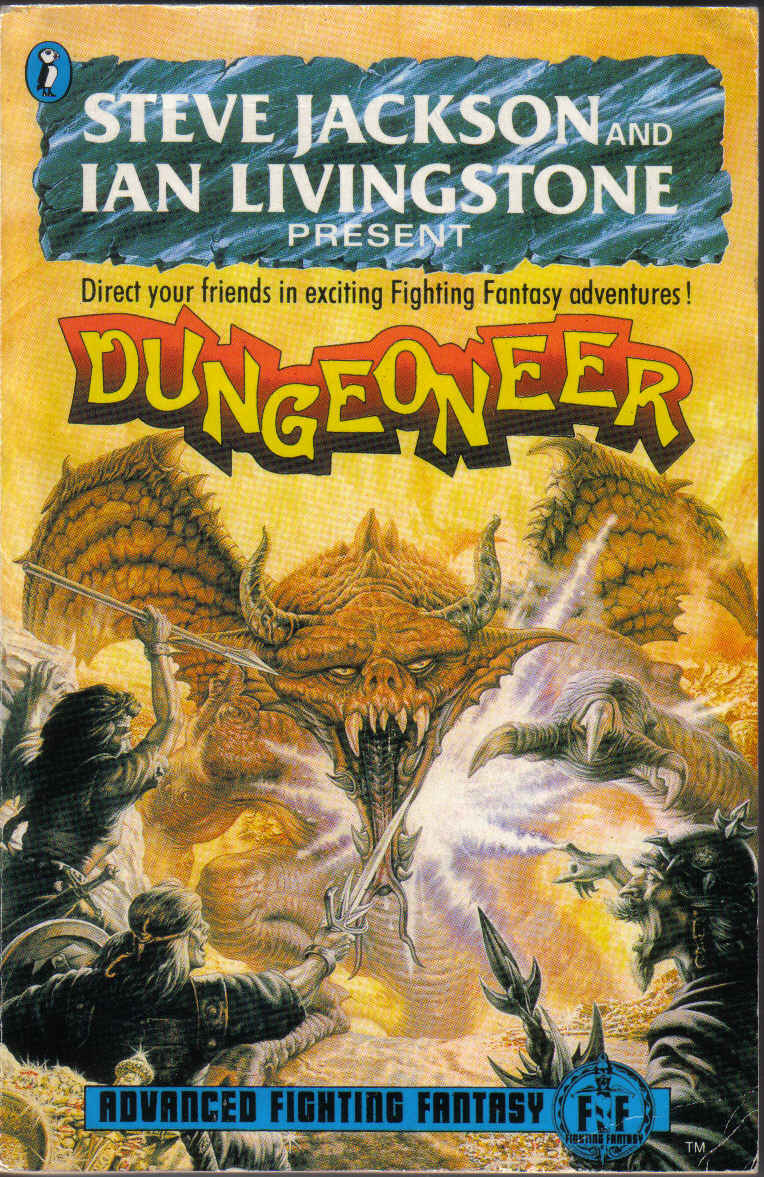Apparently Dungeoneer is kinda like the PHB + DMG + an adventure for the AFF series